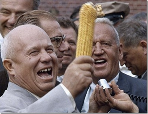 Хрущёв с кукурузой в США